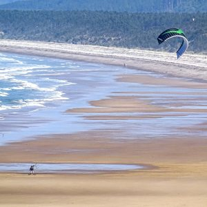 Lossiemouth beach is perfect for kite surfing
